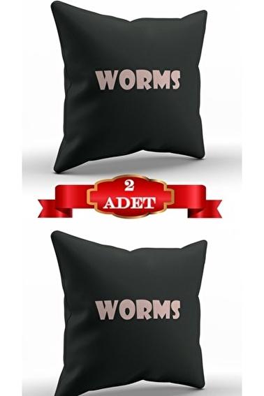 Lady Moda Worms Kırlent Kılıfı Renkli